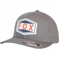 Fox Emblem Flexfit Cap grau