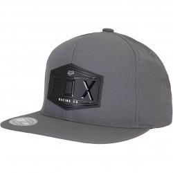 Fox Emblem Snapback Cap grau