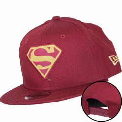 New Era 9Fifty Kinder Snapback Cap Character Superman weinrot/gold