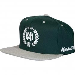 Mitchell & Ness Snapback Cap 2tone Heather Laurel Own Brand dunkelgrün/grau