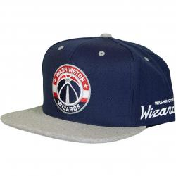 Mitchell & Ness Snapback Cap 2tone Heather Washington Wizards dunkelblau/grau