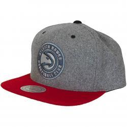 Mitchell & Ness Snapback Cap Atlanta Hawks grau