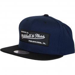 Mitchell & Ness Snapback Cap Box Logo dunkelblau/schwarz