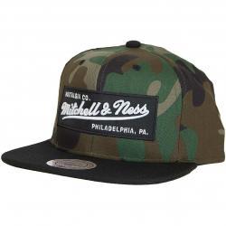Mitchell & Ness Snapback Cap Box Logo OB camouflage/schwarz