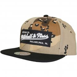 Mitchell & Ness Snapback Cap Box Logo Own Brand desert/schwarz