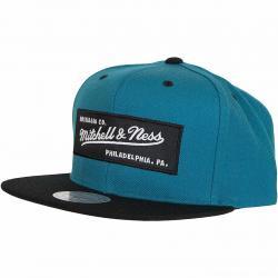 Mitchell & Ness Snapback Cap Box Logo teal/schwarz