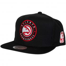 Mitchell & Ness Snapback Cap Circle Patch Atlanta Hawks schwarz