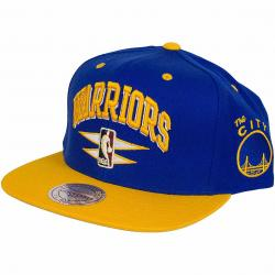 Mitchell & Ness Snapback Cap Double Diamond Golden State Warriors royal/gelb