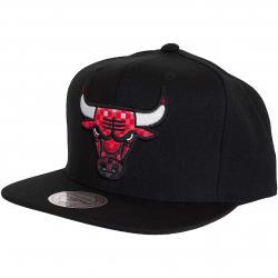 Mitchell & Ness Snapback Cap Easy Three Digital Chicago Bulls schwarz