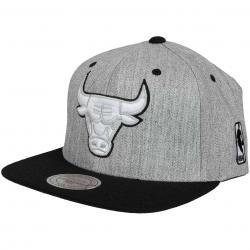 Mitchell & Ness Snapback Cap Flat Peak Chicago Bulls grau/schwarz