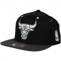 Mitchell & Ness Snapback Cap Flat Peak Chicago Bulls schwarz/dunkelgrau