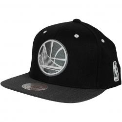 Mitchell & Ness Snapback Cap Flat Peak Golden State Warriors schwarz/dunkelgrau