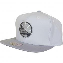 Mitchell & Ness Snapback Cap Grey 2T Plus Series Golden State Warriors grau
