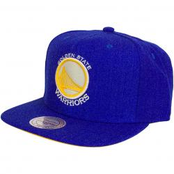 Mitchell & Ness Cap Heather Golden State Warriors royal/gelb