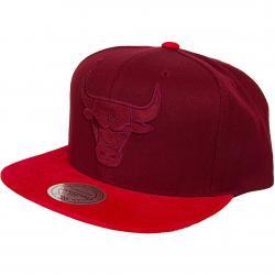 Mitchell & Ness Snapback Cap Max Chicago Bulls burgundy/rot