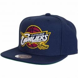 Mitchell & Ness Snapback Cap NBA Wool Solid Clevland Cavaliers dunkelblau
