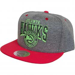 Mitchell & Ness Snapback Cap Nubuck 2-tone Atlanta Hawks grau/rot