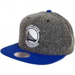 Mitchell & Ness Snapback Cap Static Golden State Warriors schwarz/royal