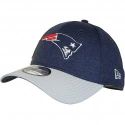 New Era 39Thirty Flexfit Cap OnField Home New England Patriots dunkelblau/grau