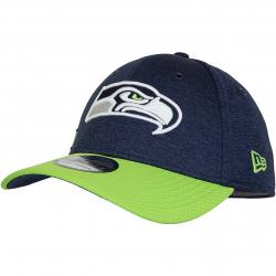 New Era 39Thirty Flexfit Cap OnField Home Seattle Seahawks dunkelblau/grün