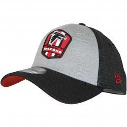 New Era 39Thirty Flexfit Cap OnField Road Atlanta Falcons schwarz/grau