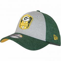 New Era 39Thirty Flexfit Cap OnField Road Greenbay Packers grün/grau