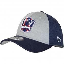 New Era 39Thirty Flexfit Cap OnField Road New England Patriots dunkelblau/grau