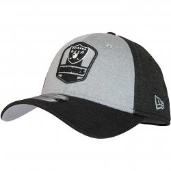 New Era 39Thirty Flexfit Cap OnField Road Oakland Raiders schwarz/grau