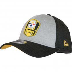 New Era 39Thirty Flexfit Cap OnField Road Pittsburgh Steelers schwarz/grau