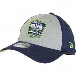 New Era 39Thirty Flexfit Cap OnField Road Seattle Seahawks dunkelblau/grau