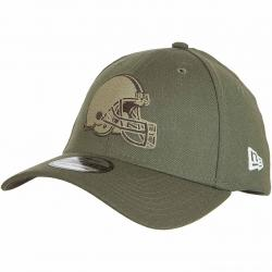 New Era 39Thirty Fitted Cap OnField 18 STS Cleveland Browns oliv