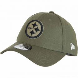 New Era 39Thirty Fitted Cap OnField 18 STS Pittsburgh Steelers oliv