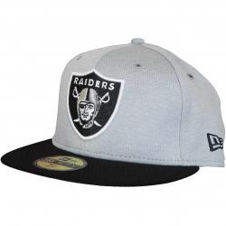 New Era 59Fifty Fitted Cap OnField Home Oakland Raiders grau/schwarz