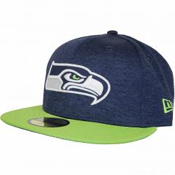 New Era 59Fifty Fitted Cap OnField Home Seattle Seahawks dunkelblau/grün