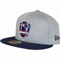 New Era 59Fifty Fitted Cap OnField Road New England Patriots grau/dunkelblau