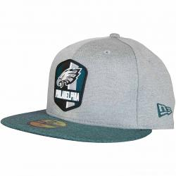New Era 59Fifty Fitted Cap OnField Road Philadelphia Eagles grau/grün