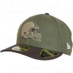 New Era 59Fifty Fitted Cap OnField 18 STS Cleveland Browns oliv
