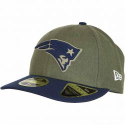 New Era 59Fifty Fitted Cap OnField 18 STS New England Patriots oliv