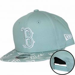 New Era 9Fifty Snapback Kinder Cap MLB Palm Print Boston Red Sox mint