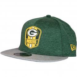 New Era 9Fifty Snapback Cap OnField Road Greenbay Packers grün/grau