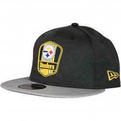 New Era 9Fifty Snapback Cap OnField Road Pittsburgh Steelers schwarz/grau