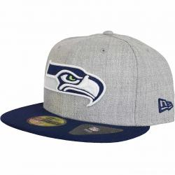 New Era 59Fifty Fitted Cap Heather Seattle Seahawks grau