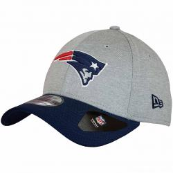 New Era 39Thirty Fitted Jersey Hex N.E.Patriots grau/dunkelblau