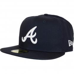 New Era 59Fifty Fitted Cap League Essential Atlanta Braves dunkelblau/weiß