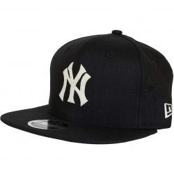 New Era 9Fifty Strapback Cap Linen NY Yankees schwarz