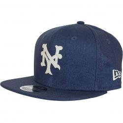 New Era 9Fifty Strapback Cap Linen NYMets dunkelblau