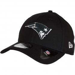 New Era 39Thirty Flexfit Cap Monochrome New England Patriots schwarz