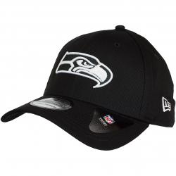 New Era 39Thirty Flexfit Cap Monochrome Seattle Seahawks schwarz