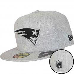 New Era 59Fifty Fitted Cap NFL Heather Patriots grau