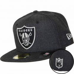 New Era 59Fifty Fitted Cap NFL Heather Raiders schwarz